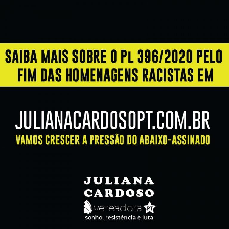Abaixo Assinado / Pelo fim das homenagens racistas na cidade de São Paulo