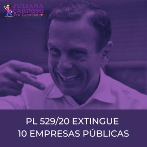 O PL 529_20 QUE EXTINGUE 10 EMPRESAS PÚBLICAS