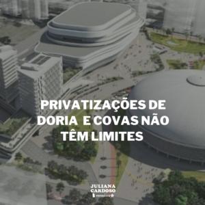 Privatizações de Doria e Covas não têm limites